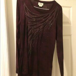 Ariat gorgeous burgundy shirt with rhinestone NWT